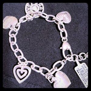 Brighton silver heart charm bracelet